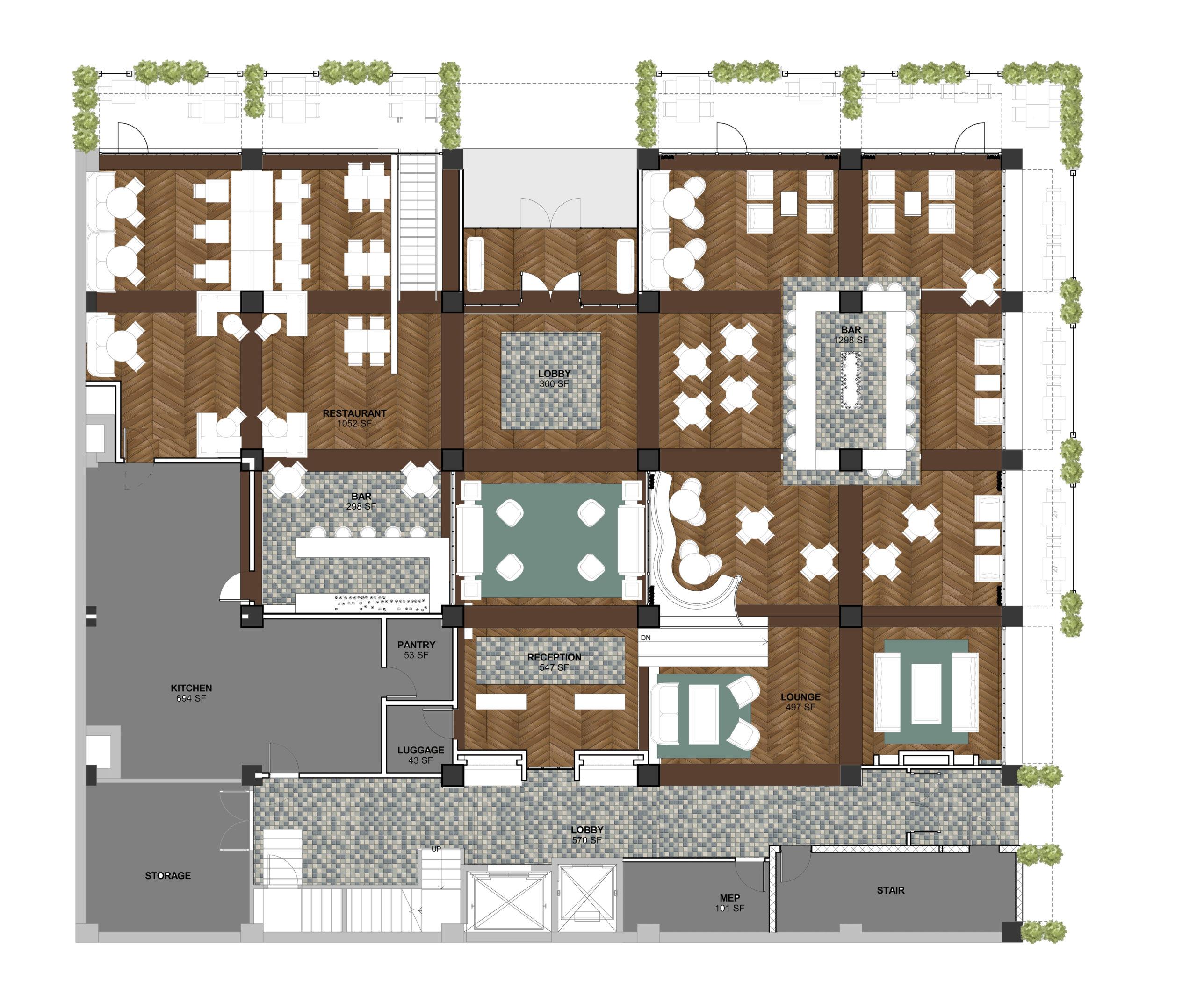 floor plan banner